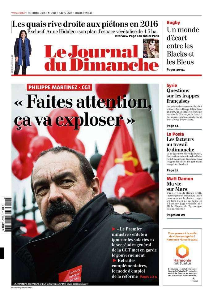 Le Journal du Dimanche - 18 Octobre 2015