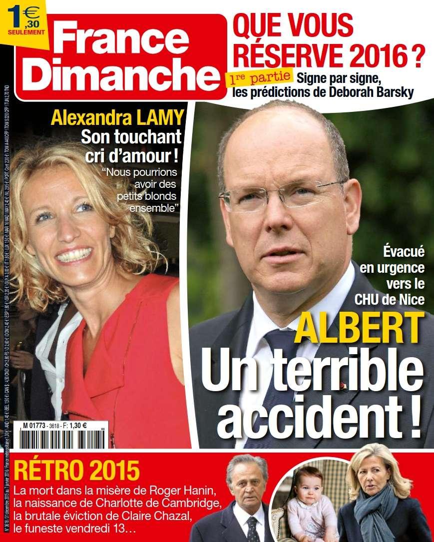 France Dimanche 3618 – 31 Décembre au 7 Janvier 2016