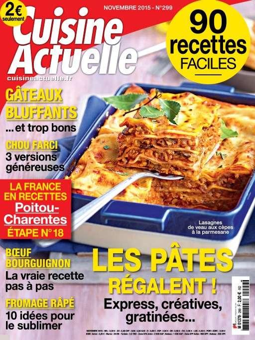 Cuisine Actuelle 299 - Novembre 2015