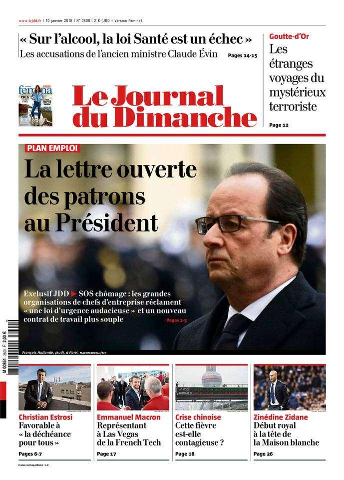 Le Journal du Dimanche - 10 Janvier 2016