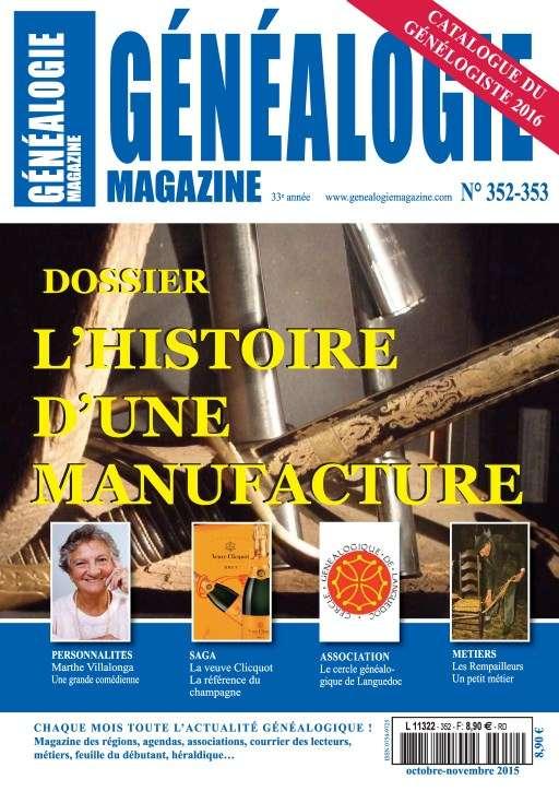 Généalogie Hors-Série 352-353 - Novembre 2015