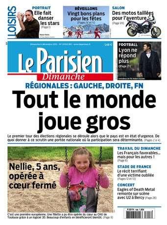 Le Parisien + Guide de votre Dimanche 6 Décembre 2015