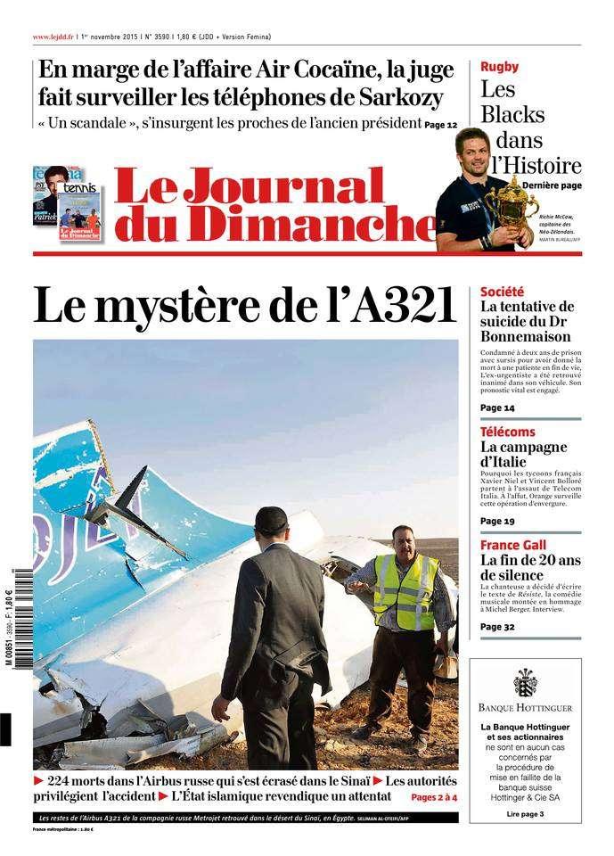 Le Journal du Dimanche - 1 Novembre 2015