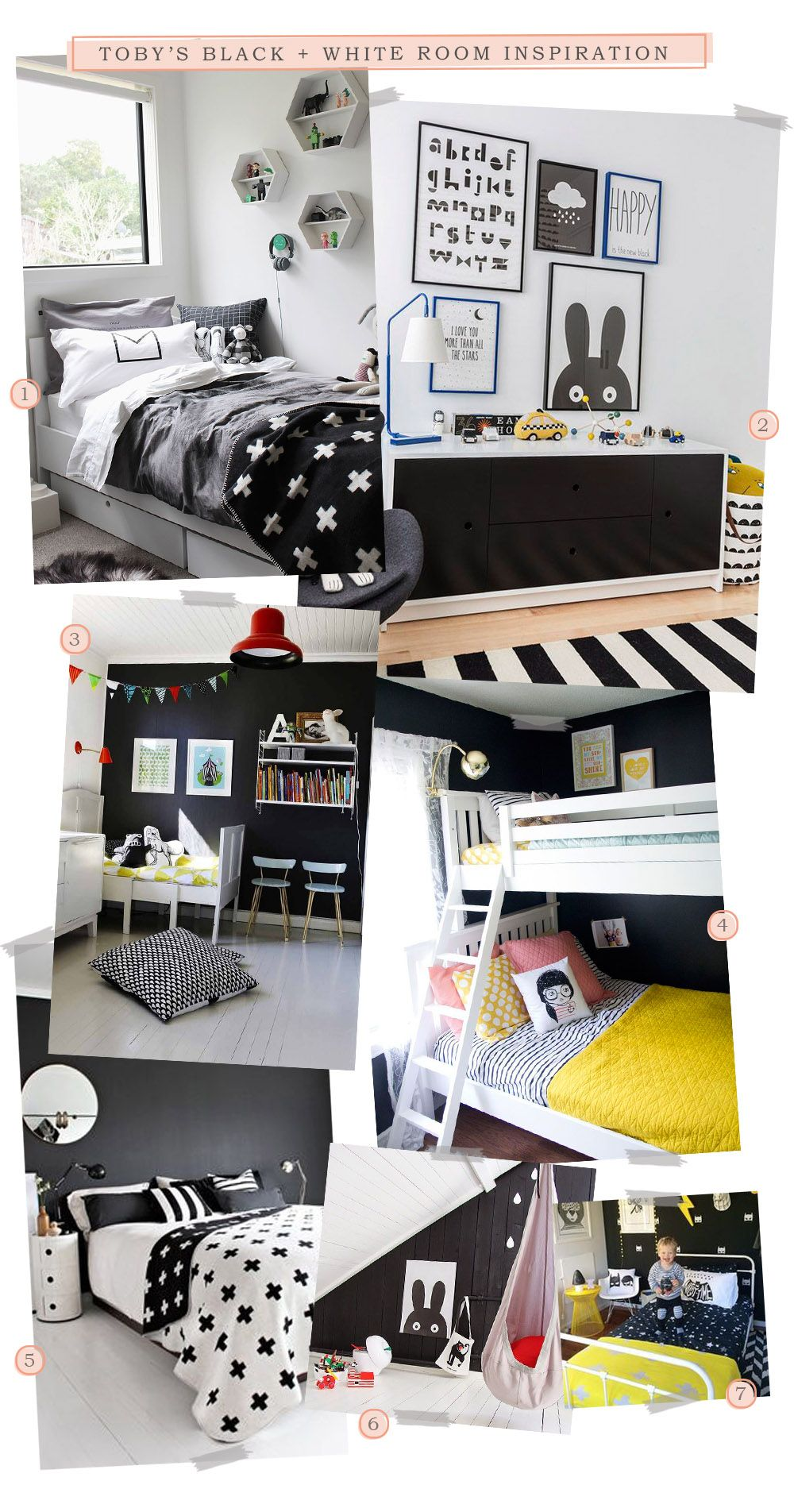 Black and White Room Inspiration