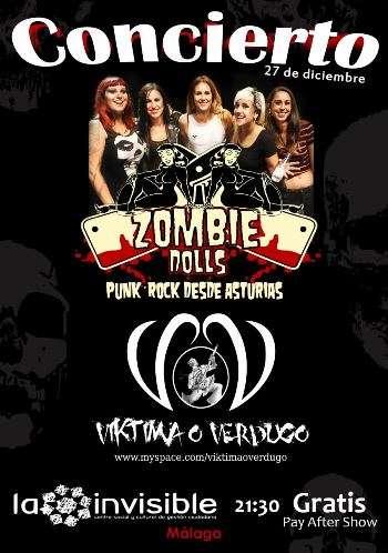 Zombie Dolls en Málaga cartel