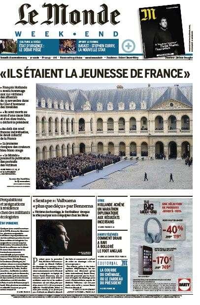 Le Monde Weekend et 4 Suppléments du Samedi 28 Novembre 2015