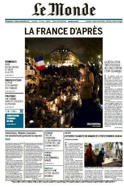 Le Monde + Eco&Entreprise du Dimanche 22 novembre 2015
