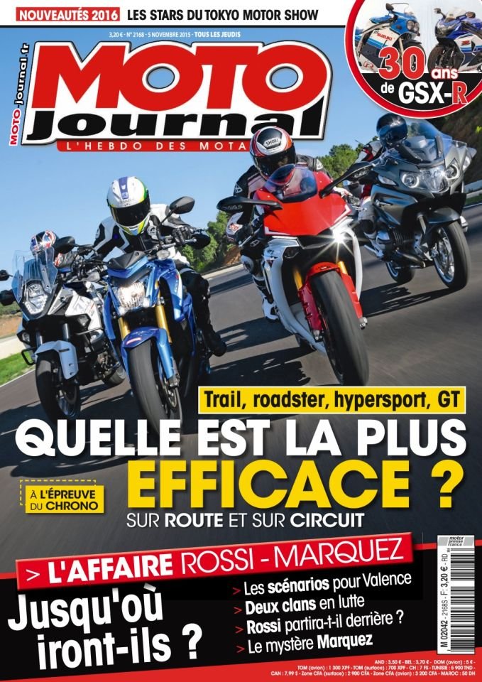 Moto Journal 2168 - 5 au 11 Novembre 2015