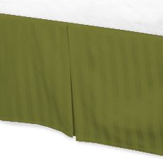 Jay's Home Goods Luxurious 100% Egyptian Cotton 1PC Bed Skirt 600 Thread Count in Stripe Moss , Cal King with 30