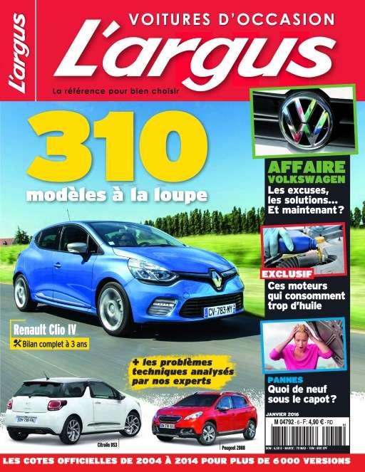 L'argus voitures d'occasion 58 - Janvier 2016