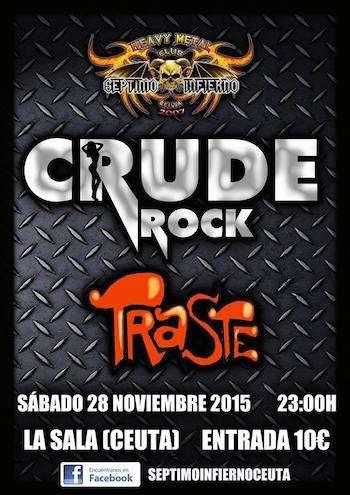 Crude Rock y Traste en Ceuta cartel