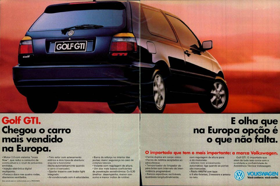 Volkswagen Golf GTI. Chegou o carro mais vendido na Europa. E olha que na Europa opção é o que não falta.