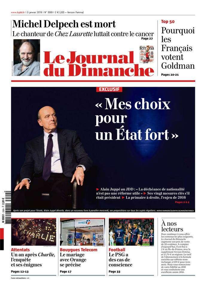 Le Journal du Dimanche - 3 Janvier 2016