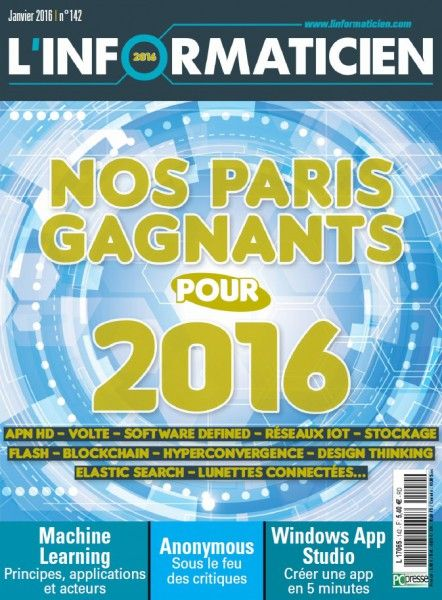 L'Informaticien 142 - Janvier 2016