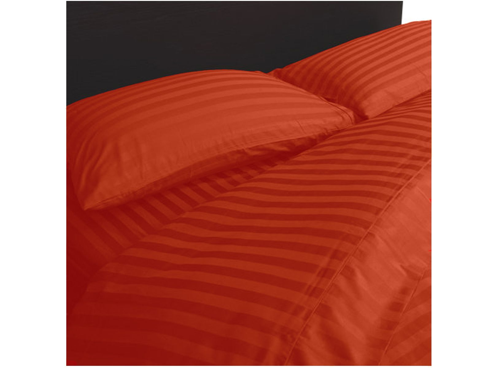 Extravagant Sheets Hotel Quality 800TC Egyptian Cotton Stripe Sheet Set - Short Queen , Brick Red with 30