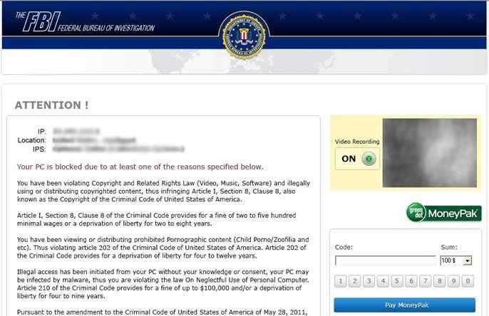 Remove FBI Header Virus
