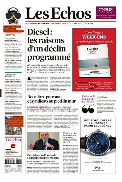 Les Echos du Vendredi 16 Octobre 2015