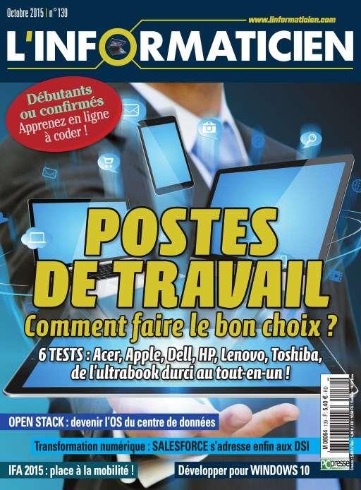 L'Informaticien 139 - Octobre 2015