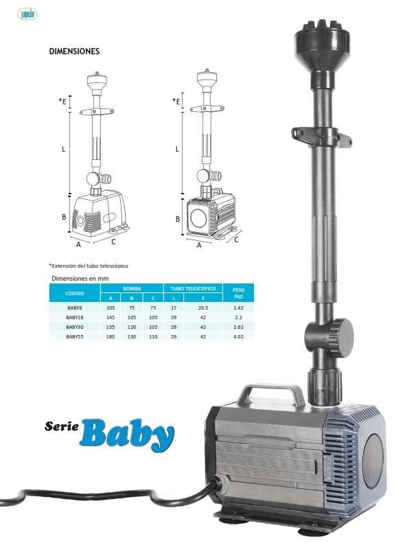 Bomba sumergible para fuente baby18 incluye for Bombas sumergibles para fuentes de jardin