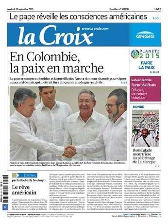 La Croix Du Vendredi 25 Septembre 2015