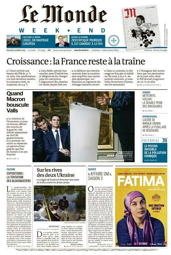 Le Monde Weekend et 4 Suppléments du Samedi 3 Octobre 2015