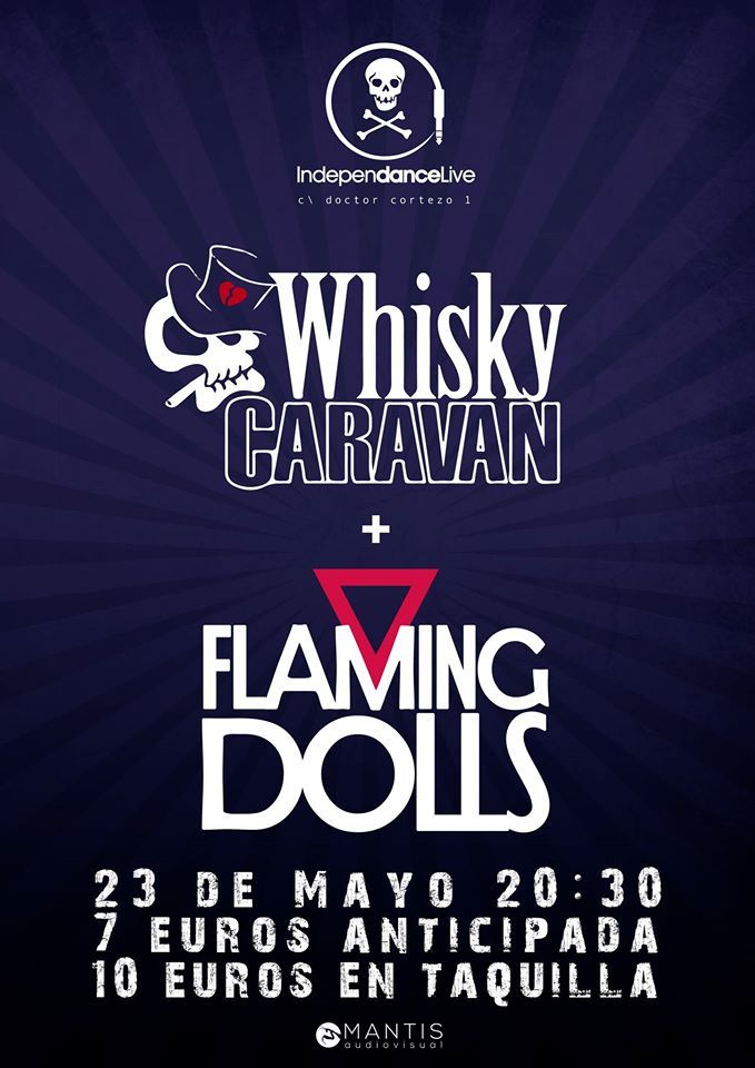 Whisky Caravan FLaming Dolls - madrid