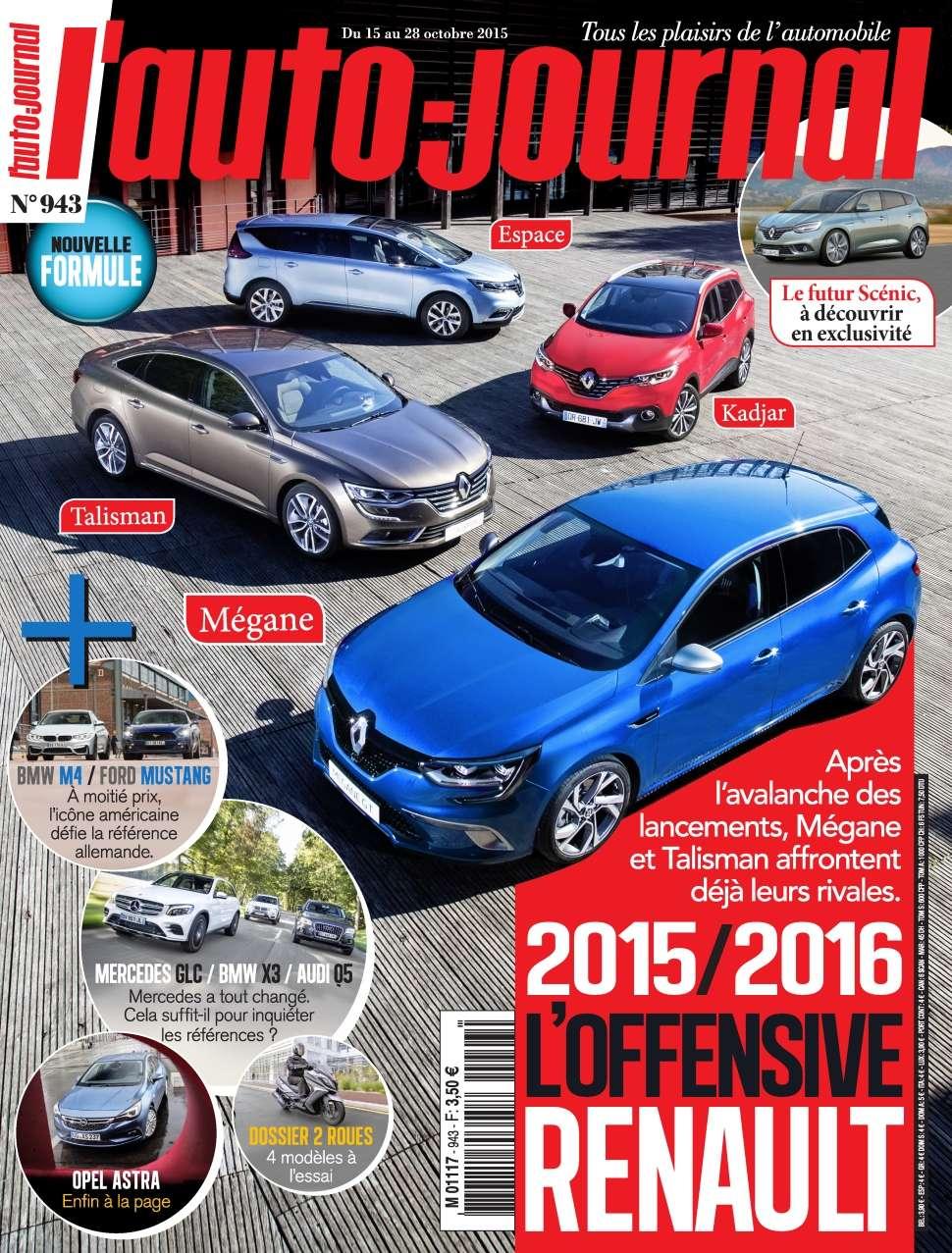 L'Auto-Journal 943 - 15 au 28 Octobre 2015