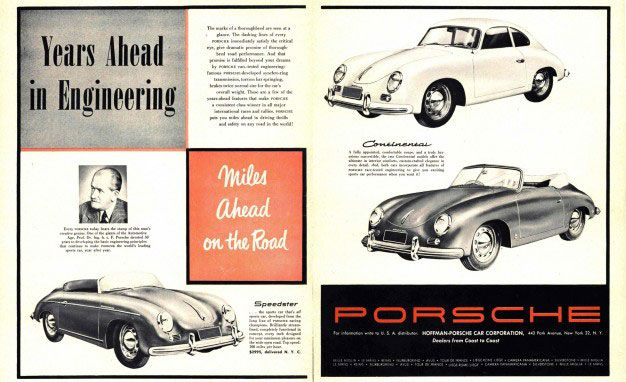 Porsche. Years Ahead In Engineering. Miles Ahead On The Road.