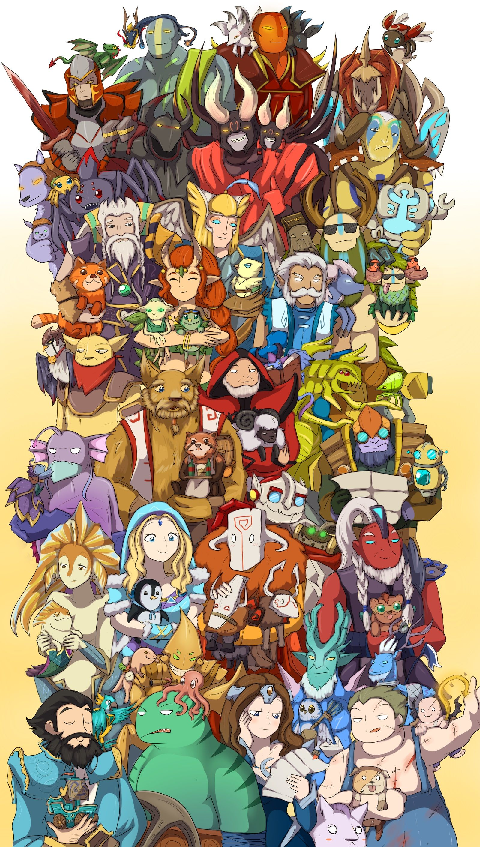 Heroes with their pet