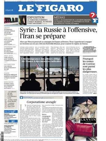 Le Figaro Du Vendredi 2 Octobre 2015