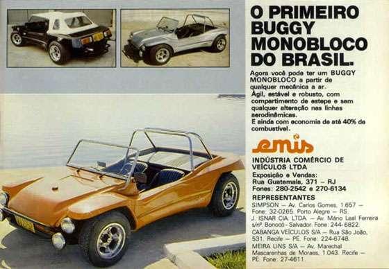 Emis. O primeiro buggy monobloco do Brasil.