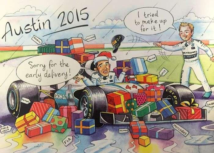 F1 2015 Bernie Ecclestone Christmas Card