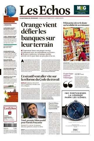 Les Echos du Mardi 20 Octobre 2015