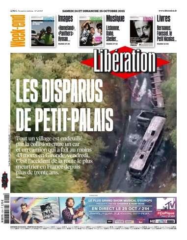Libération du Samedi 24 & Dimanche 25 Octobre 2015