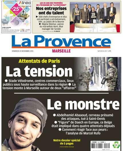 La Provence Marseille du vendredi 20 novembre 2015