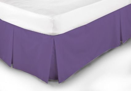 Extravagant Sheets New Collection 100% Egyptian Cotton 1PC Bed Skirt 300 Thread Count in Solid Lavender , Olympic Queen with 16