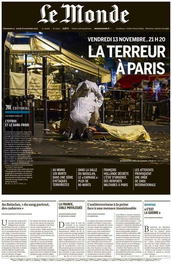 Le Monde + Supplément du Dimanche 15 Novembre 2015