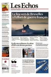 Les Echos du Mercredi 18 Novembre 2015