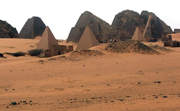 The Pyramids of Meroë (Sudan)