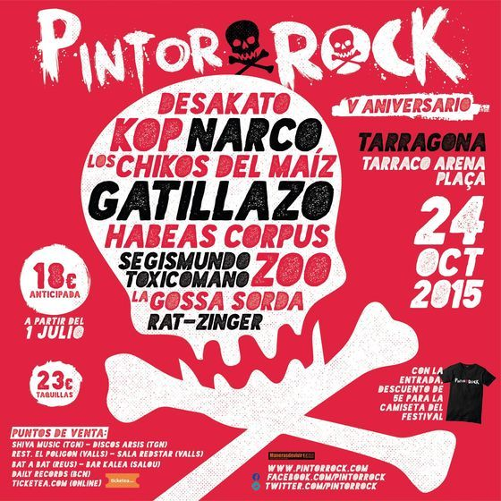 Pintor Rock cartel