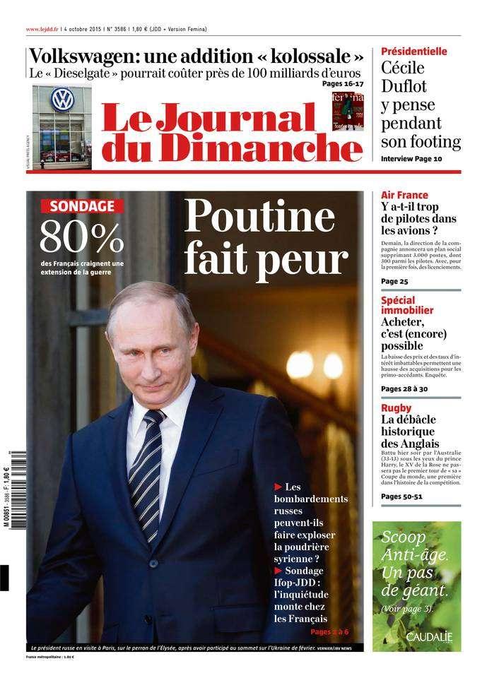 Le Journal du Dimanche - 4 Octobre 2015