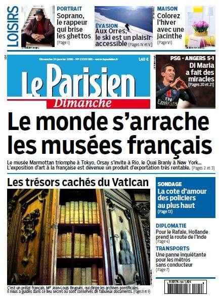 Le Parisien + Guide de votre Dimanche 24 Janvier 2016