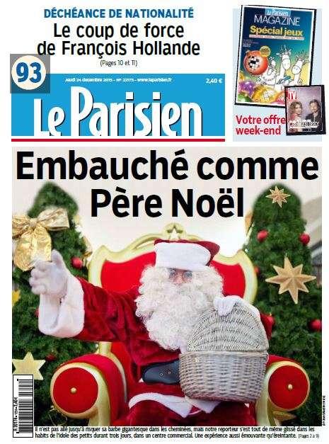 Le Parisien du Jeudi 24 Décembre 2015