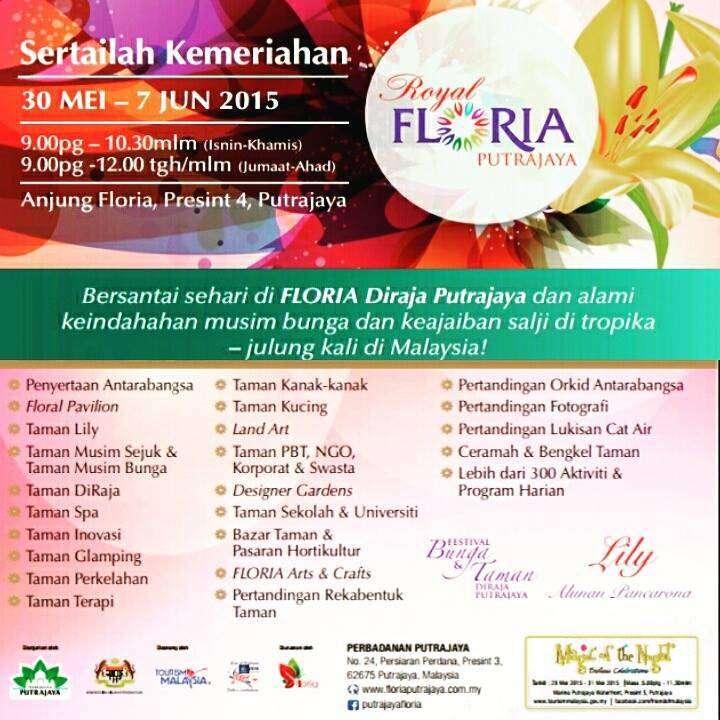 Royal FLORIA Putrajaya 2015 Programme