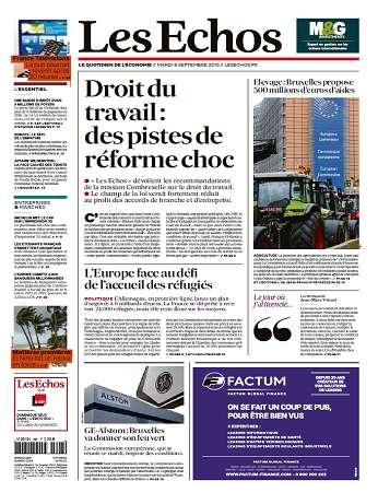 Les Echos Du Mardi 8 Septembre 2015