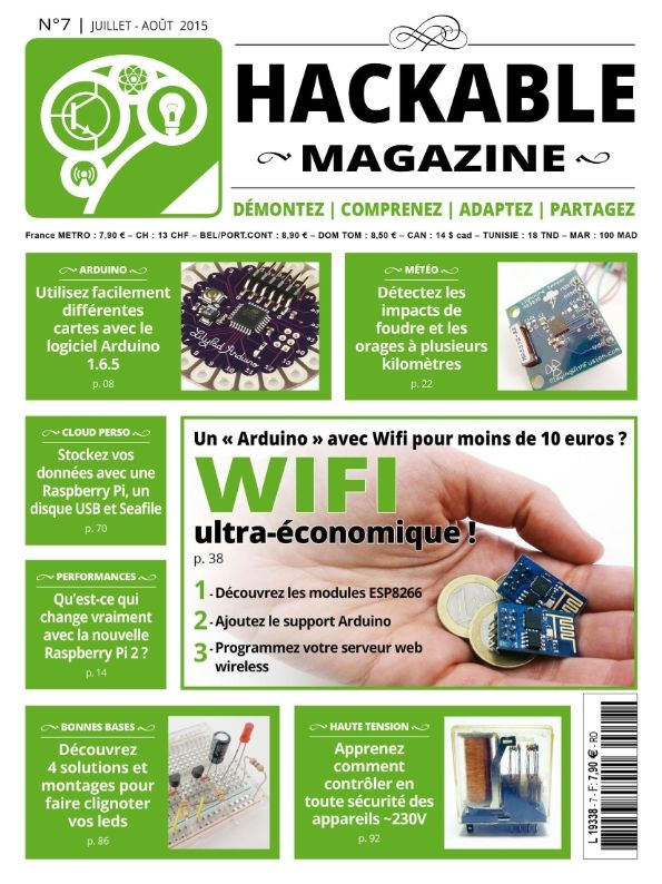 Hackable Magazine 7 - Juillet-Août 2015