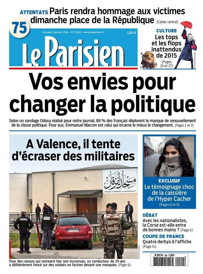 Le Parisien + Le Journal de Paris du Samedi 2 Janvier 2016