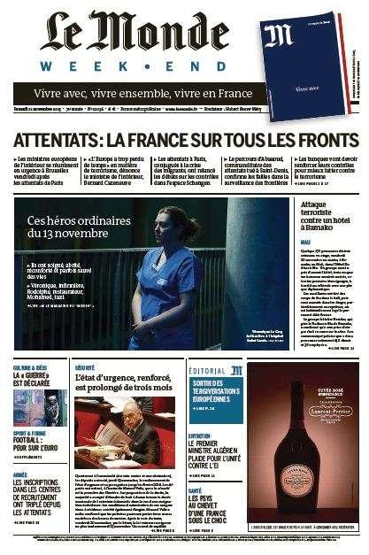 Le Monde Weekend et 3 Suppléments du Samedi 21 Novembre 2015