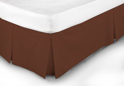 Extravagant Sheets New Collection 100% Egyptian Cotton 1PC Bed Skirt 400 Thread Count in Solid Brick Red , Short Queen with 14