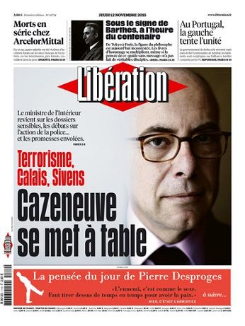 Liberation Du Jeudi 12 Novembre 2015